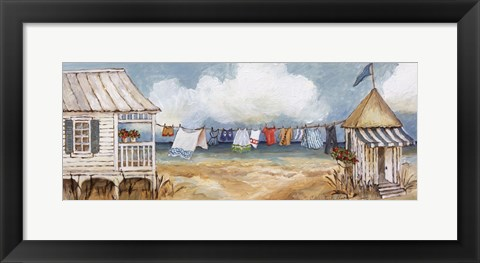 Framed Fresh Laundry I Print