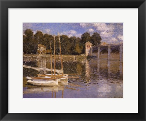 Framed Bridge at Argenteuil, c.1874 Print