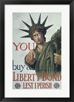 Framed You Buy a Liberty Bond Print
