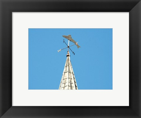 Framed Weathervane, St Patrick's Church, Armoy Print