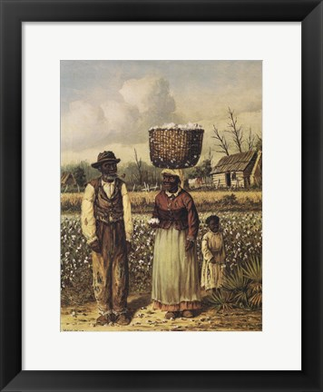 Framed Cotton Picker Family Print