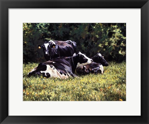 Framed Beautiful Cow Print