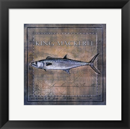 Framed Ocean Fish III Print