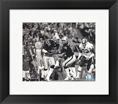 Framed Marcus Allen & Jim Plunkett Super Bowl XVIII Action Print