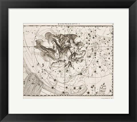 Framed Constellation  Saint Michael Print
