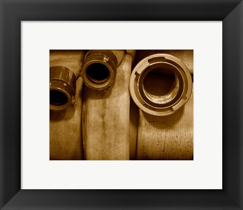 Framed Fire Hose Supply Print