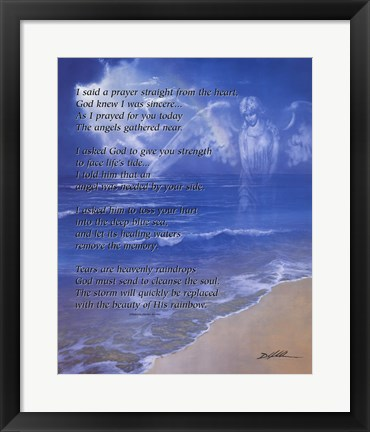 Framed Prayer from the Heart (with poem) Print