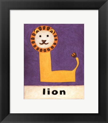 Framed L is for Lion Print