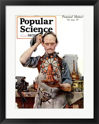 Framed Perpetual Motion by Norman Rockwell Print
