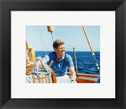 Framed President Kennedy Vacations at Hammersmith Farm Print