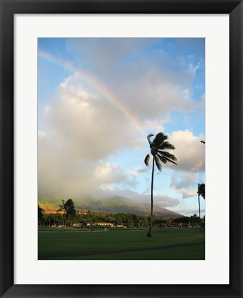 Framed Rainbow in Hawaii Print