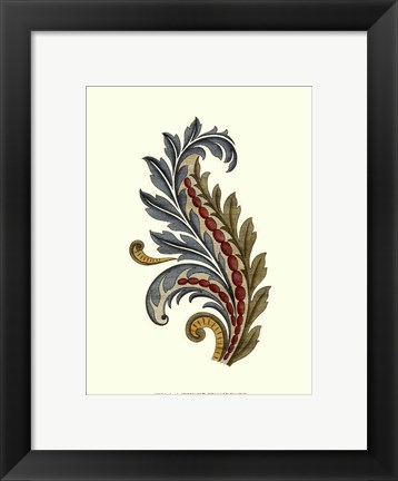 Framed Jacobean Leaf III Print