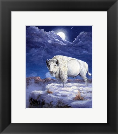 Framed White Buffalo Print