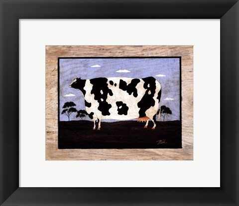 Framed Cow II Print