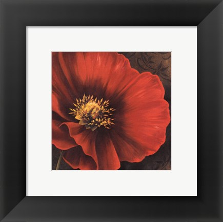 Framed Rouge Poppies I -petite Print