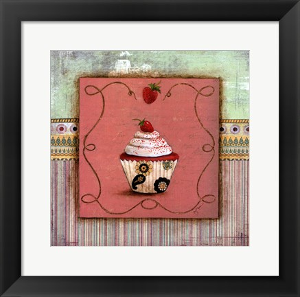 Framed CUPCAKE DELIGHT I Print