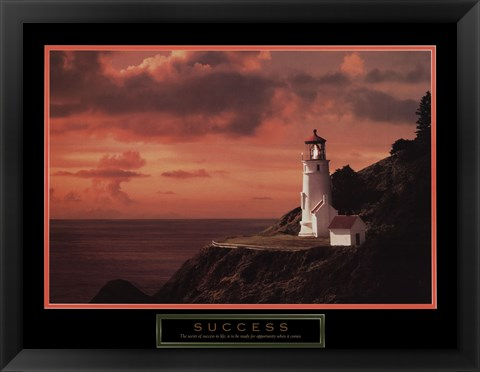 Framed Success - Lighthouse Print