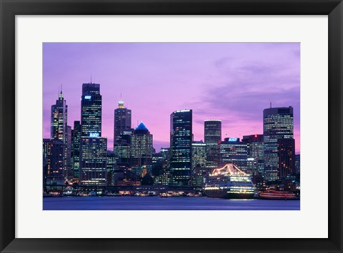 Framed Skyscrapers in a city, Circular Quay, Sydney, Australia Print