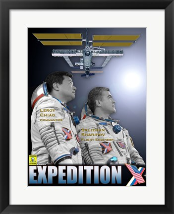 Framed Expedition 10 Crew Poster Print
