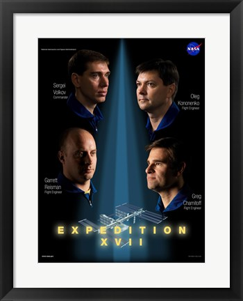 Framed Expedition 17 Crew Poster Print