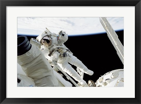 Framed Astronauts in Space Print