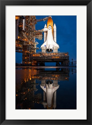 Framed Atlantis STS-135 Rainwater Reflection on Pad Print