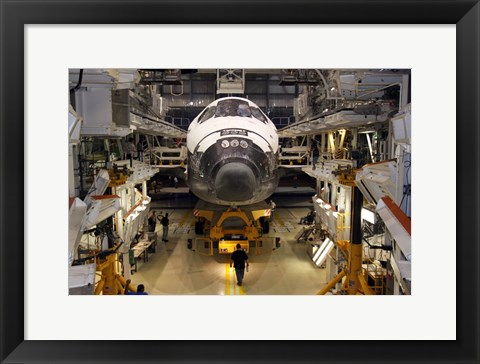 Framed STS-129 Atlantis Ready to Roll Print