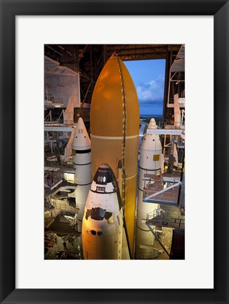 Framed STS-135 Atlantis rollout Print