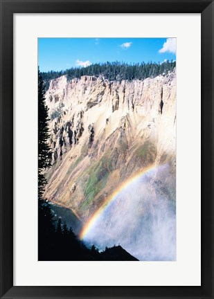 Framed Rainbow over a canyon, Grand Canyon, Yellowstone National Park, Wyoming, USA Print