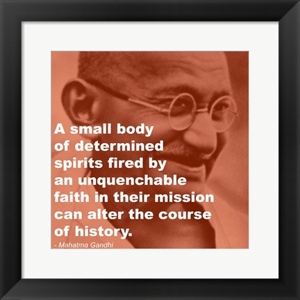 Framed Gandhi - Determination Quote Print