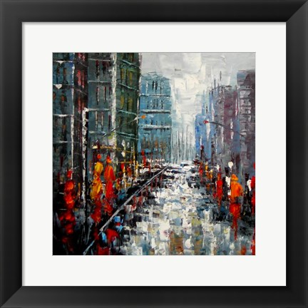 Framed City Landscape Print
