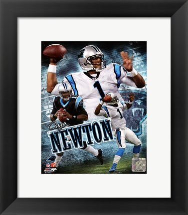 Framed Cam Newton 2011 Portrait Plus Print