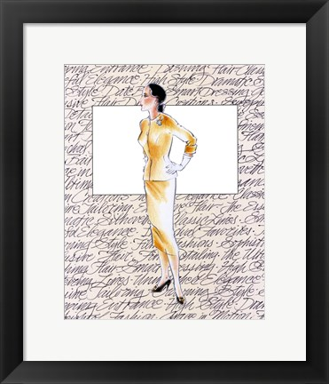 Framed 50's Fashion VII Print
