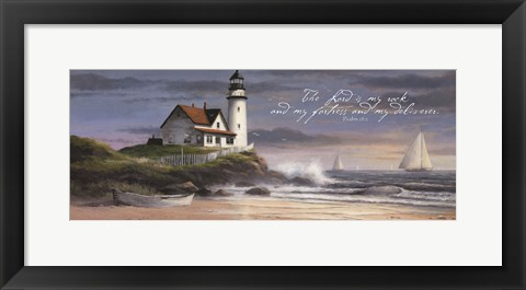 Framed Lighthouse - Dusk  (verse) Print
