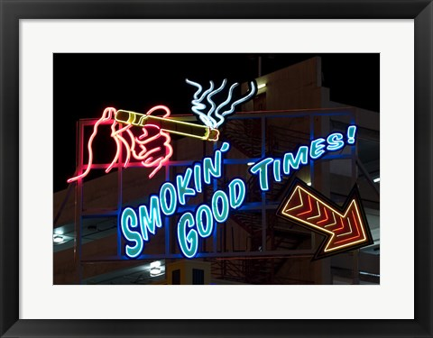 Framed Old Motels and Historic Neon Art, Las Vegas Print