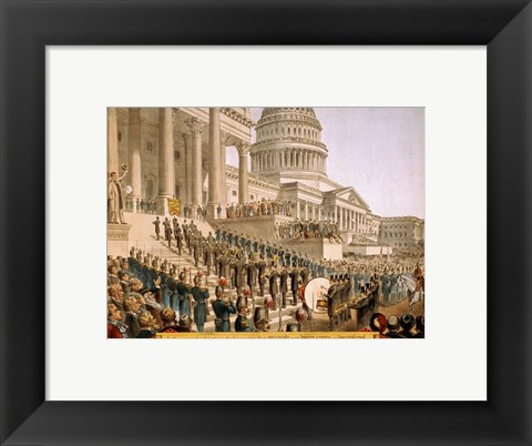 Framed Inauguration at the Capital Print