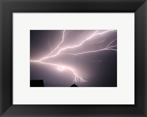 Framed Cloud-to-cloud Lightning Print
