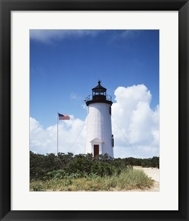 Framed Ape Poge Light, Cape Cod, Massachusetts Print