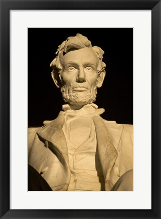 Framed Close-up of the Lincoln Memorial, Washington, D.C., USA Print