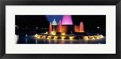 Framed Water fountain outside the Capitol Building, Union Square, Washington D.C., USA Print
