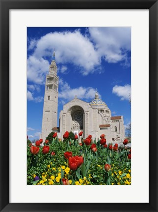 Framed Basilica of the National Shrine of the Immaculate Conception, Washington D.C., USA Print