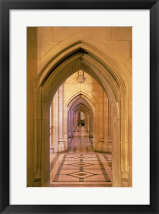 Framed Arched doorways at the National Cathedral, Washington D.C., USA Print