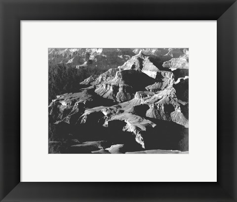 Framed Grand Canyon close in panorama Print