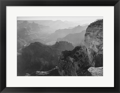 Framed View, looking down, Grand Canyon National Park, Arizona, 1933 Print