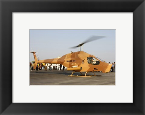 Framed Iranian Revolutionary Guard Air Force Shahed 285 Sharifi Print