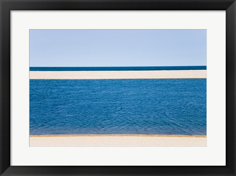 Framed Panoramic view of the sea, Cape Cod, Massachusetts, USA Print