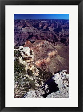 Framed Aerial View of the Grand Canyon National Park Print