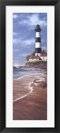 Framed Lighthouse Shoals II Print