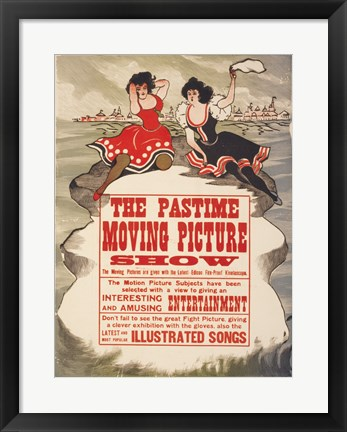 Framed Pastime moving picture show Print