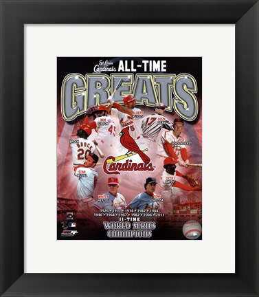 Framed St. Louis Cardinals All Time Greats Composite Print
